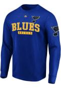 St Louis Blues Majestic Keep Score T Shirt - Blue