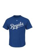 Majestic Kansas City Royals Blue Triple Peak Wordmark Tee