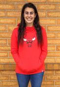 Chicago Bulls Womens Majestic Flex Cocoon Neck Crew Sweatshirt - Red
