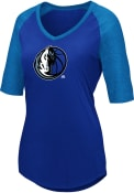 Dallas Mavericks Womens Majestic Victory Directive V Neck T-Shirt - Blue
