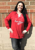 Detroit Red Wings Womens Majestic Hyper Lace Tunic Crew Sweatshirt - Red