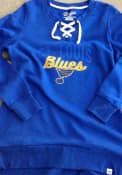 St Louis Blues Womens Majestic Hyper Lace Tunic Crew Sweatshirt - Blue