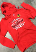 Chicago Blackhawks Womens Majestic Raise the Level Hooded Sweatshirt - Red