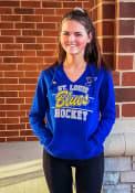 St Louis Blues Womens Majestic Raise the Level Hooded Sweatshirt - Blue