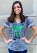 Jamie Benn Dallas Stars Womens Majestic Pumped Up V Neck T-Shirt - Grey
