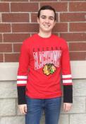Chicago Blackhawks Majestic 5 Minute Major Fashion T Shirt - Red