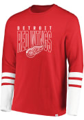 Detroit Red Wings Majestic 5 Minute Major Fashion T Shirt - Red