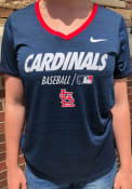 St Louis Cardinals Womens Nike Velocity V T-Shirt - Navy Blue