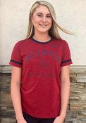St Louis Cardinals Womens Nike Slub Ringer T-Shirt - Red