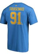 Vladimir Tarasenko St Louis Blues Name Number T-Shirt - Blue