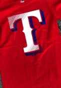 Texas Rangers Majestic Slash and Dash T Shirt - Blue