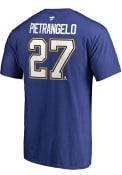 Alex Pietrangelo St Louis Blues Name Number T-Shirt - Blue