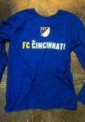 FC Cincinnati Shielded T Shirt - Blue