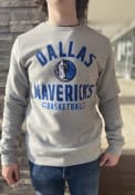 Dallas Mavericks Team Arc Stack Crew Sweatshirt - Grey