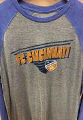 FC Cincinnati Raglan Transition Fashion T Shirt - Grey