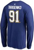 Vladimir Tarasenko St Louis Blues N N Long Sleeve T-Shirt - Blue