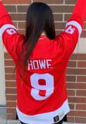 Gordie Howe Detroit Red Wings Vintage Breakaway Hockey Jersey - Red