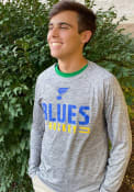 St Louis Blues Engage Stack T-Shirt - Grey