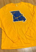 St Louis Blues Team State Pride T Shirt - Gold