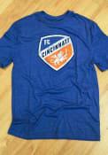 FC Cincinnati Throwback Logo Fashion T Shirt - Blue
