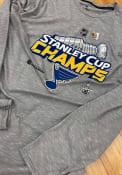 St Louis Blues Locker Room T Shirt - Grey