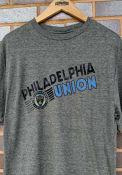 Philadelphia Union Diagonal Name Fashion T Shirt - Grey
