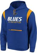 St Louis Blues Overdrive Hooded Sweatshirt - Blue