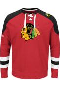 Chicago Blackhawks Majestic Center Fashion Sweatshirt - Red