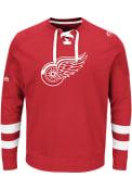 Detroit Red Wings Majestic Center Fashion Fashion Sweatshirt - Red