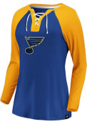 St Louis Blues Womens Iconic Break Out Play T-Shirt - Blue