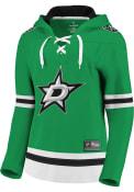 Dallas Stars Womens Lace Up Hooded Sweatshirt - Green