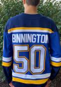 Jordan Binnington St Louis Blues 2019 Home Breakaway Hockey Jersey - Blue