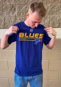 St Louis Blues Pro Tricode T Shirt - Navy Blue