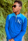 Kansas City Royals Iconic Clutch 1/4 Zip Pullover - Blue