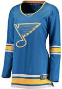 St Louis Blues Womens Breakaway Alternate Hockey Jersey - Blue