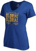 St Louis Blues Womens Gloria! Gloria! T-Shirt - Blue