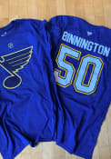 Jordan Binnington St Louis Blues Authentic Stack T-Shirt - Blue