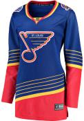 St Louis Blues Womens Breakaway Hockey Jersey - Blue