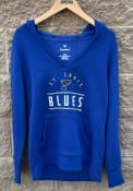 St Louis Blues Womens League Leader Hooded Sweatshirt - Blue