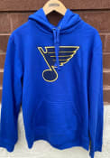 St Louis Blues Team Logo Hooded Sweatshirt - Blue