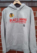 Chicago Blackhawks POH Primary Hooded Sweatshirt - Grey