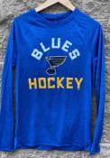 St Louis Blues Iconic Striated Breezer T-Shirt - Navy Blue
