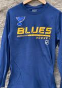 St Louis Blues Cotton Prime T Shirt - Navy Blue