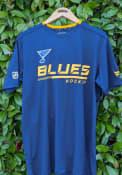 St Louis Blues Locker Room Tech T Shirt - Navy Blue