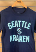 Seattle Kraken Victory Arch T Shirt - Navy Blue