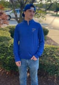 St Louis Blues Striated Raglan 1/4 Zip Pullover - Blue