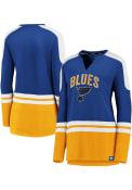 St Louis Blues Womens Slapshot Blue LS Tee