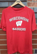 Wisconsin Badgers Primary Threat T Shirt - Red