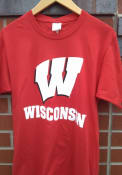 Wisconsin Badgers Lockup T Shirt - Red