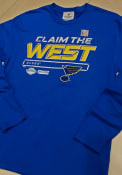 St Louis Blues Crease 2019 Conference Final T Shirt - Blue